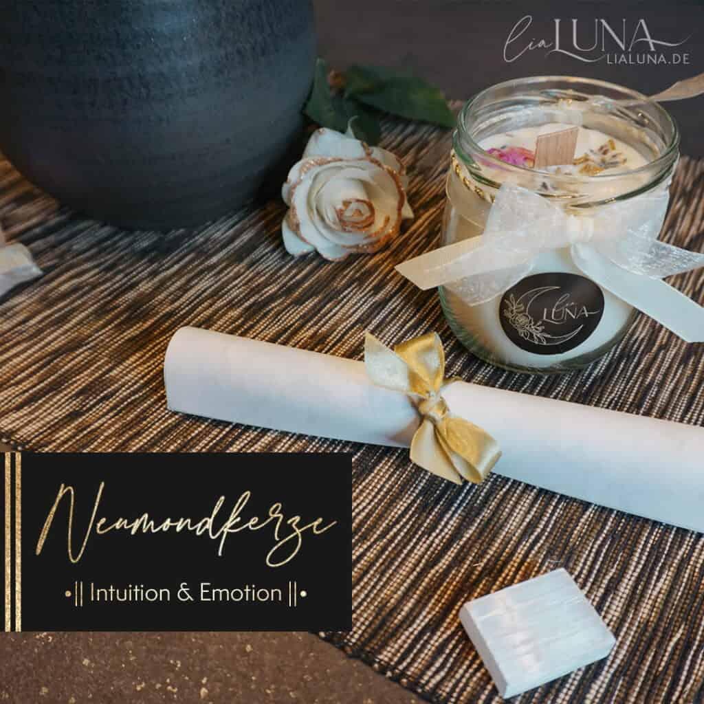 Neumond Kerze Intuition & Emotion by lialuna