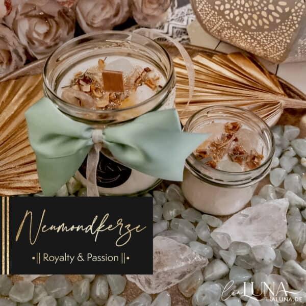 Neumondkerze Royalty & Passion by lialuna